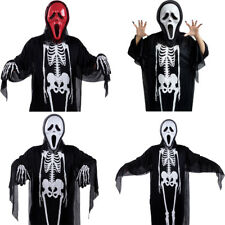 Halloween's Women Men Kids Cosplay Costume One Size Loose Fit Mask Gloves Outfit
