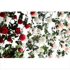 Magideal Wedding Party Decoration Flowers Artificial Fake Silk Rose 6ft