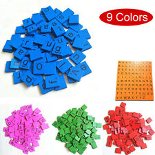 Wooden Scrabble Tiles Black Letters Numbers For Crafts Wood Alphabets 9 Colors