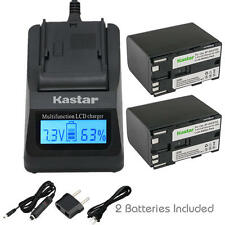 BP-970G Battery & LCD Fast Charger for Canon ES-520A 4000 5000 6000 6500 6500V