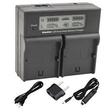 BP-970G Battery& LCD Dual Charger for Canon ES-520A 4000 5000 6000 6500 6500V