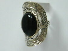 New SHABLOOL Ring Black Onyx Unique Jewelry 925 Sterling Silver Lady