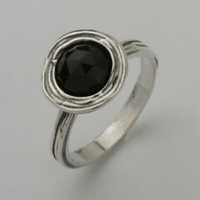 New SHABLOOL Ring Black Onyx Handmade Jewelry Solitaire Sterling Silver