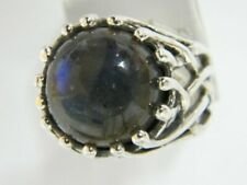 New SHABLOOL Ring Labradorite Blue/Green 925 Sterling Silver Jewelry