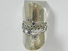 New SHABLOOL Ring Purple Amethyst Stone 925 Sterling Silver Cut Jewelry