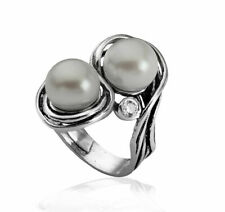 New SHABLOOL Unique Ring Freshwater Pearl Jewelry 925 Sterling Silver