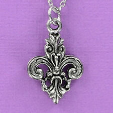 Fleur de Lis Necklace - Pewter Pendant on Chain New Orleans Saints Large NEW