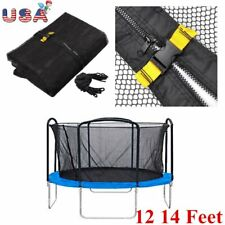 14' Trampoline Net Fits All Brand 3 Arch/8 Pole Enclosure Netting Replacement JE