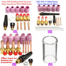 16/18Pcs TIG Welding Torch Stubby Gas Lens Parts Kit For Tig WP-17/WP-18/WP-26