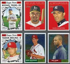 2010 Topps Heritage Baseball Short Prints, Chrome, Refractors & Black Refractor