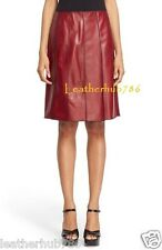 Sexy Skirt New 100% Genuine Lambskin Red Leather Women Hollywood Casual Party 67