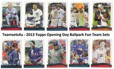 2013 Topps Opening Day Ballpark Fun Baseball Set ** Pick Your Team **