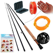 Fly Fishing Rod with Reel Combo Set with Fishing Line Fly Fishing Flies Full Kit