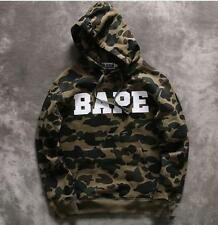 2017 NEW Unisex Men's Bape A Bathing Ape Casual Camo Cotton Sweaters Hoodies