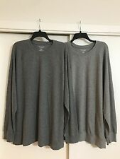 NWT Roundtree & Yorke XL Men's Crewneck Long Sleeve Thermal Cotton T-Shirt $40