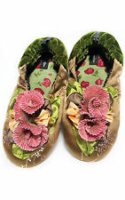"NEW Goody Goody Bon Bon comfy Silk Slippers ""Kelly"" Womens size Small - Large"