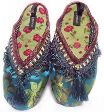 "NEW Goody Goody Bon Bon comfy Silk Slippers ""Cloisonne"" Womens sz Small - Large"