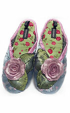 "NEW Goody Goody Bon Bon comfy Silk Slippers ""Dusty Rose"" Womens sz Small - Large"