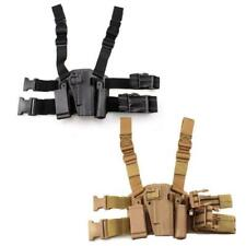 Tactical Gun Holster Right Leg Pistol Holster with Mag Pouch for Colt 1911