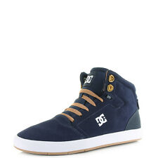 Mens DC Crisis High Navy Camel High Top Skate Trainers Size