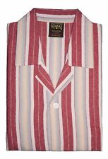 Men's Somax Red Stripe Cotton Flannelette Pyjamas - Girdle Waist