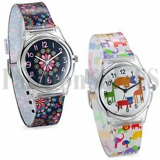 Fashion Cartoon Cute Pattern Silicone Wrist Watch Boys Girls Children Kids Watch