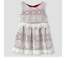 Genuine Kids by OSHKOSH Baby Toddler Girls' A Line Embroidered Dress Red White