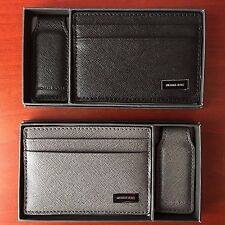 Michael Kors Card Case with Magnetic Money Clip Mens Gift Set