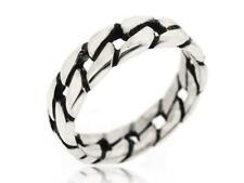 Sovats 925 Sterling Silver Twisted Rope Finger Thumb Band Stack RIng Size 5-12