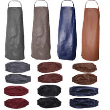 MagiDeal Plain Anti Oil Apron/ Sleeves for Chefs Butchers Kitchen Cooking Baking