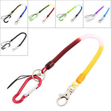 Bag Carabiner Hook Spring Strap Coil Keyring Chain Cord Lobster Clasp