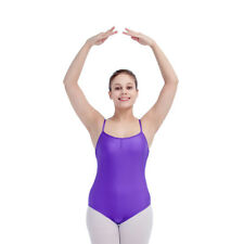 Adult Ballet Leotard Dance Gymnastics Camisole Shiny Lycra Basic Bodysuit NEW