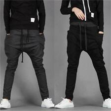 MENS CASUAL JOGGER DANCE SPORTWEAR HAREM PANTS SLACKS TROUSERS SWEATPANTS