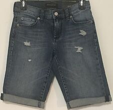 Banana Republic Sz 25/0 Women's Bermuda Shorts Denim Distressed Zip Fly