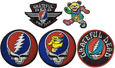 1 Piece Grateful Dead Steal Your Face Dancing Bear Embroidered Sew Iron on Patch