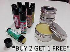 Organic Olive Oil Lip Balms, 100% Pure, non-sticky with Beeswax 30ml