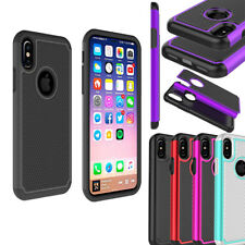 Slim Shockproof Hybrid Soft Rubber Armor Hard Phone Case Cover Skin For iPhone X