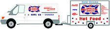 Customized Catering Trailer Stickers/Burger Van Stickers, Catering Trailer, Cafe