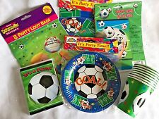 Children's Party Football Plates Napkins Cups Loot Bags Invitations Free Game