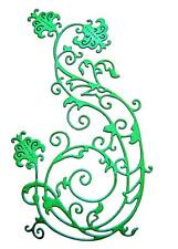 8 Floral Flourish Die Cuts, Flowers, Leaves, Sizzix. Any Colour/Card