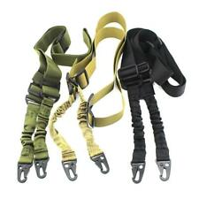 Adjustable Hunting 2 Two Point Rifle Sling Bungee Tactical Shotgun Strap Durable