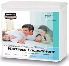 Mattress Protector Zippered Bed Bug Water Proof Encasement  Cover Antibacterial