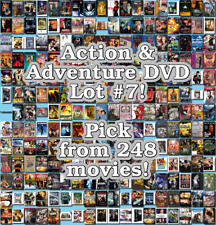 Action & Adventure DVD Lot #7: 248 Movies to Pick From! Buy Multiple And Save!