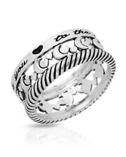Sterling Silver Band Ladies Ring Weight 4.0g. Free US Shipping