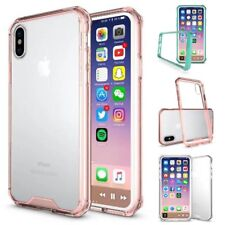 For iPhone X 8 Plus 7 6S Case Hard Back Bumper Shockproof Slim Clear Phone Cover