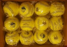 "12 USSSA TRUMP STOTE 12"" Fastpitch Leather Softballs"