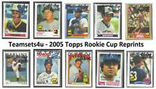 2005 Topps Rookie Cup Reprints Baseball Set ** Pick Your Team **