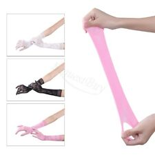 Colorful Women Long Elbow Wrist Full Finger Lace Gloves Wedding Evening Party