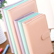 Cute Notebook  A5 A6 PU leather Spiral Time Planner Book Diary Filofax Planner A