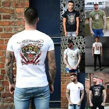 Mens Ed Hardy Regular Fit Crew Neck Graphic Picture Designer Printed T Shirt Tee